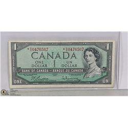 1954 CANADIAN DOLLAR REPLACEMENT BILL *D/O PREFIX