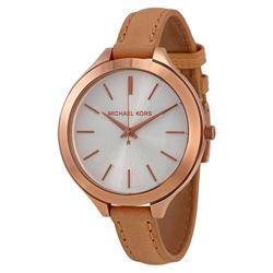 NEW MICHAEL KORS ROSE GOLD / BROWN BAND MSRP $275