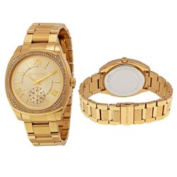 NEW MICHAEL KORS GOLD PLATED 40MM WATCH MSRP $379