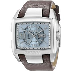 NEW DIESEL BLUE DIAL 49MM LEATHER BAND MSRP $200