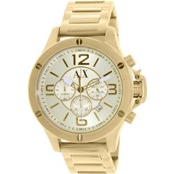 NEW ARMANI EXCHANGE GOLD PLATED 48MM MSRP $345