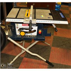 RYOBI TABLE SAW WITH ROLLING STAND