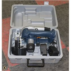 18 VOLT CORDLESS SAW IN CASE BATTERY AND CHARGER