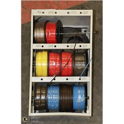 WALL RACK WITH VARIOUS GAUGE OF WIRE