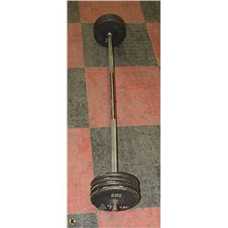 90LB WEIGHTS W/ BARBELL WELDED ENDS NOT REMOVABLE