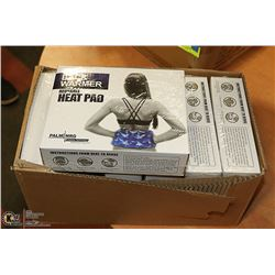 CASE OF 6 NEW PALM NRG BACK REUSABLE HEAT PADS
