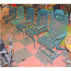 LOT OF 6 CAST IRON PATIO CHAIRS