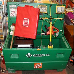 GREENLEE TOOL BOX WITH CONTENTS