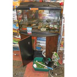 FISH TANK WITH CONTENTS MUST BE REMOVED BY MONDAY