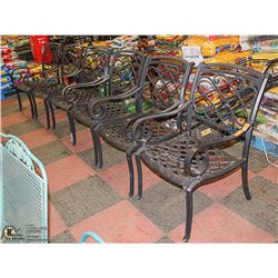 SET OF 6 METAL PATIO CHAIRS