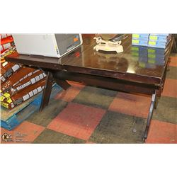WOOD TONE BUTTERFLY LEAF KITCHEN TABLE 54 X 38 X