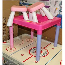 KIDS ACTIVITY TABLE/ WITH MATCHING CHAIRS