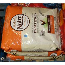 THREE 13.61KG BAGS OF NUTRO FARM RAISED CHICKEN