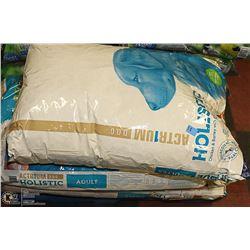 THREE 16KG BAGS OF ACTR1UM HOLISTIC DOG FOOD