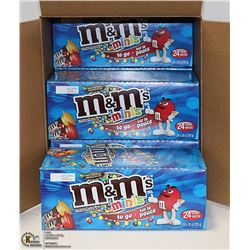 CASE WITH 6 BOXES OF 24 30G TUBES OF M&M MINIS