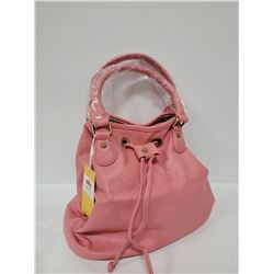 NEW PINK DRAWSTRING PURSE WITH DUST BAG