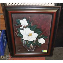 ORIGINAL FLORAL PAINTING BY B SAWCHUK SIGNED