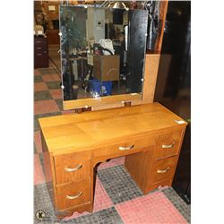 WOODEN VANITY WITH DRAWERS 44 X 18 X 28