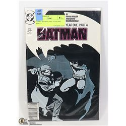 COMIC BATMAN # 407 YEAR ONE PART 4
