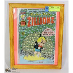 RICHIE RICH ZILLIONS #1 COLLECTOR COMIC IN FRAME