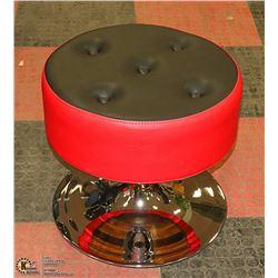 NEW PLUSH 5 BUTTON RED + BLACK STOOL