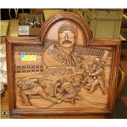 """20""""X20"""" WOOD CARVED EARNHARDT WALL PLAQUE NASCAR"""