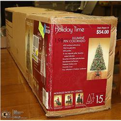 NEW HOLIDAY TIME 6.5FT PRELIT CHRISTMAS TREE