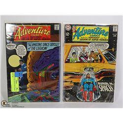 2 COLLECTOR ADVENTURE COMICS #379, 380