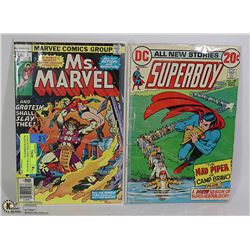 2 COLLECTOR COMICS MS MARVEL #6 AND SUPERBOY #190