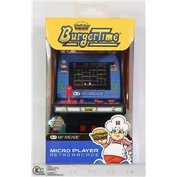 NEW MY ARCADE BURGER TIME MICRO GAME CABINET