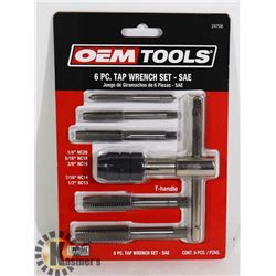 NEW OEMTOOLS 6 PC TAP WRENCH SET - SAE