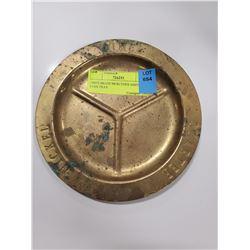 1960'S BRASS MERCEDES ASHTRAY / COIN TRAY