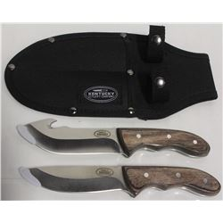 NEW SPORTSMAN 2PC. HUNTING KNIFE SET W/ SHEATH