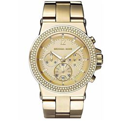NEW GOLD COLOR MICHAEL KORS 44MM CHRONO MSRP $337