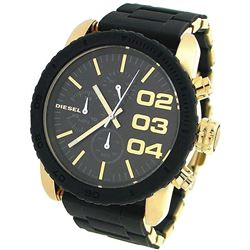 NEW DIESEL 46MM GOLD BLACK TONE 3-CHRONO MSRP $367