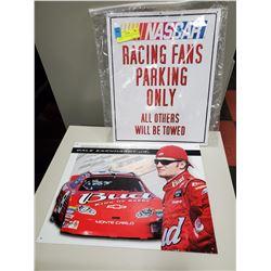 2 X METAL SIGNS DALE JR / NASCAR PARKING