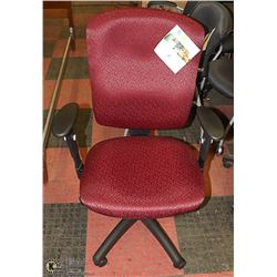 RED & BLACK HYDRAULIC LIFT OFFICE CHAIR