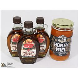 3 BOTTLES OF PURE CANADIAN MAPLE SYRUP 250 ML