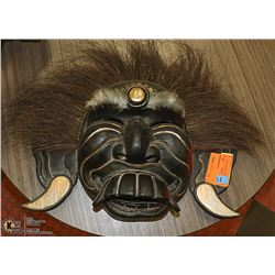 WOOD CARVED AFRICAN MASK