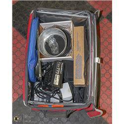 4 BAGS OF ASSORTED CAMERA EQUIPMENT