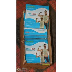 CASE OF 20 NEW COOL HEAT MUSCLE PADS - COOLS OR
