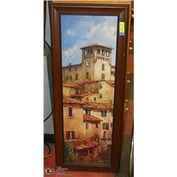 MEDITERRENEAN STYLE WOOD FRAME PICTURE 40 X 16
