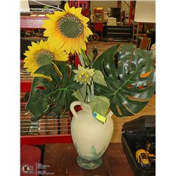 VASE WITH SUNFLOWER 3' TALL