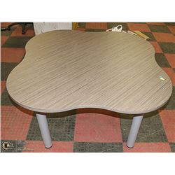 """CLOVER SHAPED LUNCH ROOM TABLE-NEW 59"""" WIDE"""