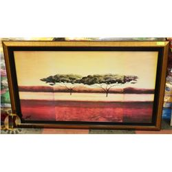 FRAMED PICTURE OF TREES 61 X 37