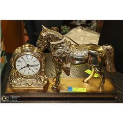 UNITED HORSE CLOCK WORKING
