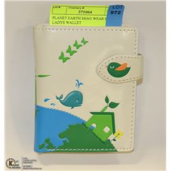 PLANET EARTH SHAG WEAR BEIGE LADYS WALLET
