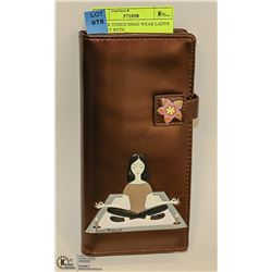 COPPER TONED SHAG WEAR LADYS WALLET WITH