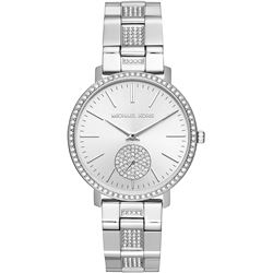 NEW MICHAEL KORS SILVER PAVE WATCH MSRP $499