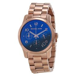 NEW MICHAEL KORS RUNWAY IRIDESCENT DIAL ROSE GOLD